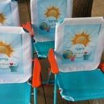 כיסאות גן עם הדפס