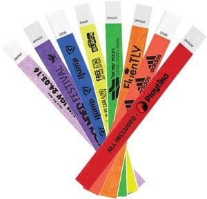 צמידי נייר ממותגים לאירועים